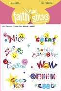 Smile Face Awards (6 Sheets, 72 Stickers) (Stickers Faith That Sticks Series) Stickers