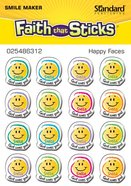 Happy Faces (1 Sheet, 16 Vinyl Covered Stickers) (Stickers Faith That Sticks Series) Stickers