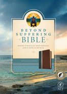 NLT Beyond Suffering Study Bible Indexed Teal/Brown/Rose/Gold (Black Letter Edition) Imitation Leather
