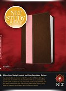 NLT Study Bible Tutone Dark Brown/Pink (Red Letter Edition)