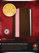 NLT Study Bible Indexed Dark Brown/Pink (Red Letter Edition) Imitation Leather