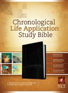 NLT Chronological Life Application Study Bible Black/Onyx (Black Letter Edition)