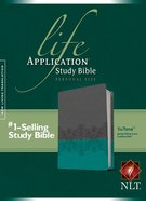 NLT Life Application Study Bible Personal Size Juniper/Gray Lace (Black Letter Edition) Imitation Leather