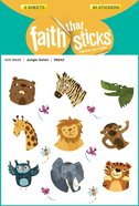Jungle Safari (6 Sheets, 90 Stickers) (Stickers Faith That Sticks Series) Stickers