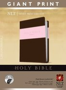 NLT Giant Print Indexed Holy Bible Pink/Brown (Red Letter Edition) Imitation Leather