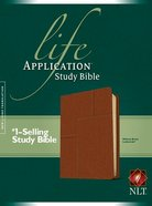 NLT Life Application Study Bible Midtown Brown (Red Letter Edition) Imitation Leather