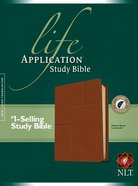 NLT Life Application Study Bible Midtown Brown Indexed (Red Letter Edition) Imitation Leather