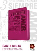 Ntv Edicion Compacta Hot Pink 1 Cor. 13 (Black Letter Edition) Imitation Leather