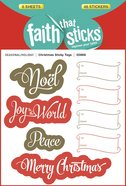 Christmas Sticky Tags (6 Sheets, 48 Stickers) (Stickers Faith That Sticks Series) Stickers