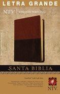 Ntv Santa Biblia Edicion Personal Letra Grande Brown/Tan Indexed (Red Letter Edition) Imitation Leather