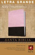 Ntv Santa Biblia Edicion Personal Letra Grande Pink/Brown Indexed (Red Letter Edition) Imitation Leather