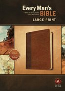 NLT Every Man's Bible Large Print Brown/Tan (Black Letter Edition) Imitation Leather