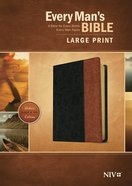 NIV Every Man's Bible Large Print (Black Letter Edition) Imitation Leather