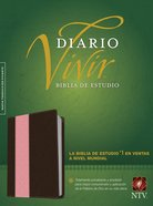 Ntv Biblia De Estudio Del Diario Vivir Pink/Brown (Red Letter Edition) Imitation Leather