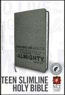 NLT Teen Slimline Bible Indexed Charcoal Psalm 91 (Red Letter Edition) Imitation Leather