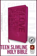 NLT Teen Slimline Bible Indexed Hot Pink 1 Cor. 13 (Red Letter Edition) Imitation Leather