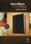 NLT Every Man's Bible Large Print Black/Onyx (Black Letter Edition)