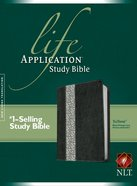 NLT Life Application Study Bible Black/Vintage Ivory Floral (Red Letter Edition) Imitation Leather