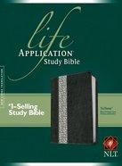 NLT Life Application Study Bible Black/Vintage Ivory Floral (Red Letter Edition)