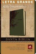 Ntv Santa Biblia Edicion Personal Letra Grande Indexed Olive Green (Red Letter Edition) Imitation Leather