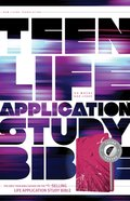 NLT Teen Life Application Study Bible Indexed Pink (Black Letter Edition)