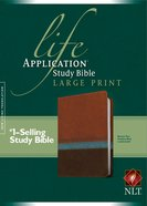 NLT Large Print Life Application Study Bible Brown Tan Heather Blue (Red Letter Edition)
