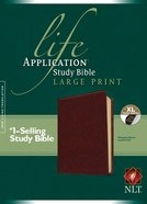 NLT Large Print Life Application Study Bible Indexed Brown (Red Letter Edition)
