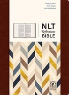 NLT Reflections Bible For Journaling Mahogany