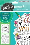 1 Thessalonians 1: 4 (4 Sheets, 36 Colorable Stickers) (Stickers Faith That Sticks Series) Stickers