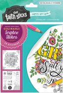 2 Corinthians 12: 9 (4 Sheets, 20 Colorable Stickers) (Stickers Faith That Sticks Series) Stickers