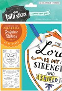 Psalm 28: 7 (4 Sheets, 46 Colorable Stickers) (Stickers Faith That Sticks Series) Stickers
