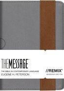 Message Remix Gray/Tan Stripe (Black Letter Edition) Imitation Leather