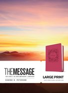 Message Large Print Dusty Rose Floral (Black Letter Edition) Imitation Leather