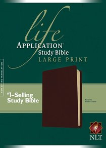 NLT Life Application Study Bible Burgundy Large Print (Red Letter Edition)