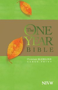 NIV One Year Bible Premium Slimline Large Print (Black Letter Edition)