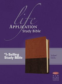 NKJV Life Application Study Bible Tutone Brown/Tan (Red Letter Edition)