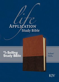 KJV Life Application Study Bible Brown/Tan (Red Letter Edition)