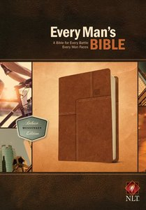 NLT Every Mans Bible Deluxe Messenger Edition Layered Brown (Black Letter Edition)