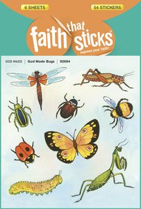 Sfts: God Made Bugs (6 Sheets, 54 Stickers)