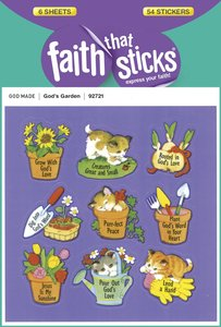 Gods Garden (6 Sheets, 54 Stickers) (Stickers Faith That Sticks Series)