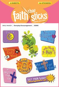 Everyday Encouragement (6 Sheets, 54 Stickers) (Stickers Faith That Sticks Series)