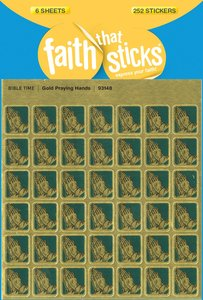 Gold Praying Hands Mini (6 Sheets, 252 Stickers) (Stickers Faith That Sticks Series)