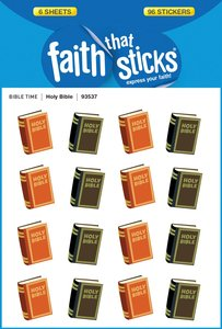 Holy Bible (6 Sheets, 96 Stickers) (Stickers Faith That Sticks Series)