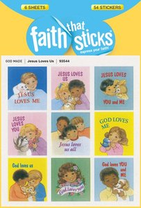 Jesus Loves Us (6 Sheets, 54 Stickers) (Stickers Faith That Sticks Series)