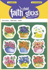 Patio Pots (6 Sheets, 54 Stickers) (Stickers Faith That Sticks Series)