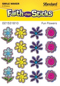 Fun Flowers (6 Sheets, 90 Stickers) (Stickers Faith That Sticks Series)