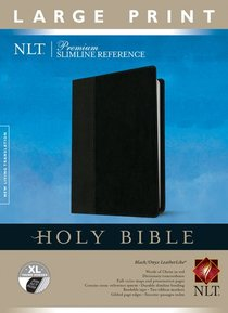NLT Premium Slimline Reference Indexed Large Print, Tutone Black/Onyx (Red Letter Edition)