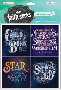 Christmas Greetings (2 Sheets, 8 Stickers) (Stickers Faith That Sticks Series)