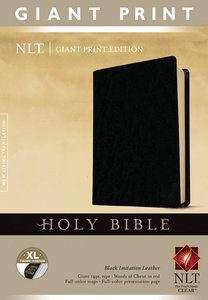 NLT Giant Print Indexed Holy Bible Black (Red Letter Edition)