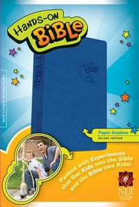 NLT Hands-On Bible Blue Airplane (Black Letter Edition)